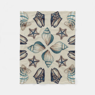 Coastal Kaleidoscope I Fleece Blanket