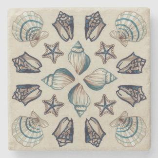 Coastal Kaleidoscope I Stone Coaster