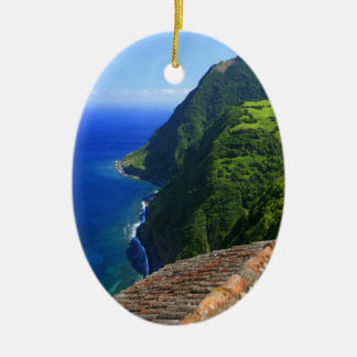 Coastal landscape in Azores Christmas Ornament