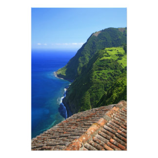 Coastal landscape in Azores Photo