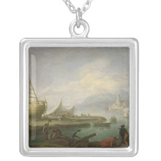 Coastal Landscape Silver Plated Necklace