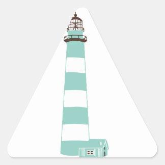 Coastal Lighthouse Triangle Sticker