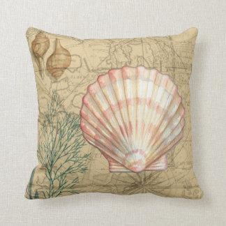 Coastal Map Collage Cushion