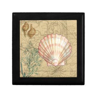Coastal Map Collage Gift Box