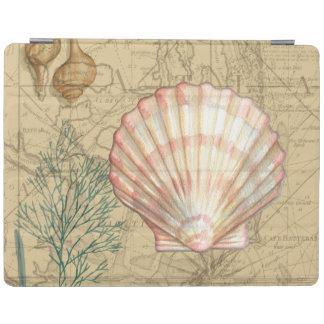 Coastal Map Collage iPad Cover