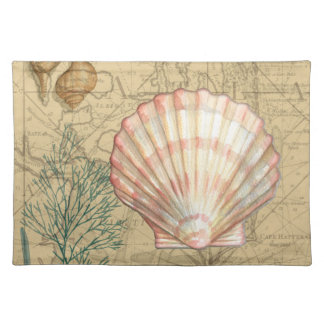 Coastal Map Collage Placemat