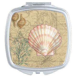 Coastal Map Collage Vanity Mirrors