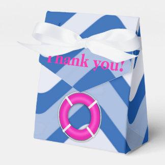 Coastal nautical ocean beach pink girly favor box