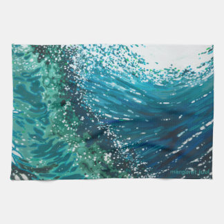 Coastal Ocean Wave Kitchen Towel by Margaret Juul