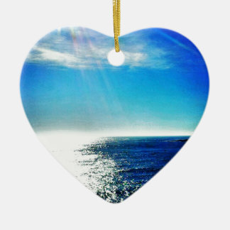 Coastal Path Ceramic Heart Decoration
