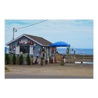 Coastal Picture of a Seaside Building Poster