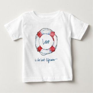 Coastal Quote | Love is the best lifesaver Baby T-Shirt