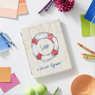 Coastal Quote | Love is the best lifesaver iPad Cover