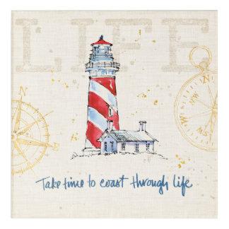 Coastal Quote | Take Time To Coast Through Life Acrylic Wall Art