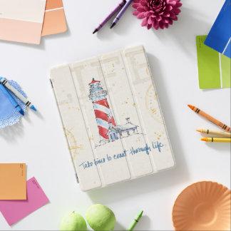 Coastal Quote | Take Time To Coast Through Life iPad Cover