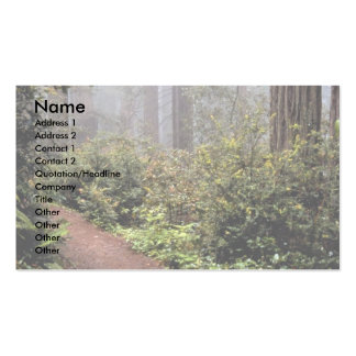 Coastal redwoods, Lady Bird Johnson Grove, Califor Double-Sided Standard Business Cards (Pack Of 100)