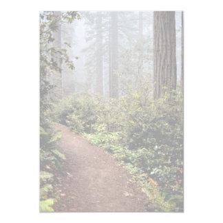 "Coastal redwoods, Lady Bird Johnson Grove, Califor 5"" X 7"" Invitation Card"