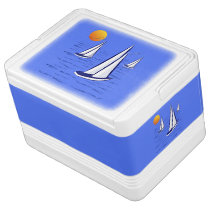 Coastal Sailing Yachts at Sunset Igloo Coolers Igloo Cool Box
