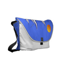 Coastal Sailing Yachts at Sunset Messenger Bag