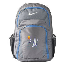 Coastal Sailing Yachts at Sunset Nike Backpack