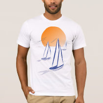 Coastal Sailing Yachts at Sunset T-Shirt