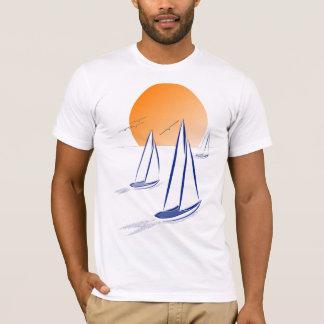 Coastal Sailing Yachts at Sunset T-Shirt