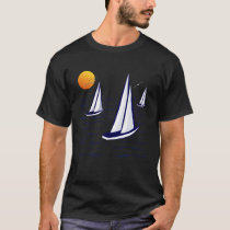 Coastal Sailing Yachts Dark Apparel T-Shirt