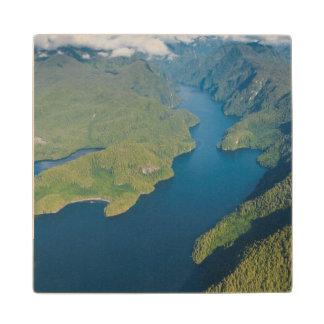 Coastal Scenery In Great Bear Rainforest Wood Coaster