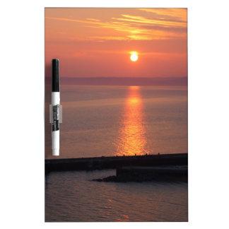 Coastal Sunset Dry Erase Board