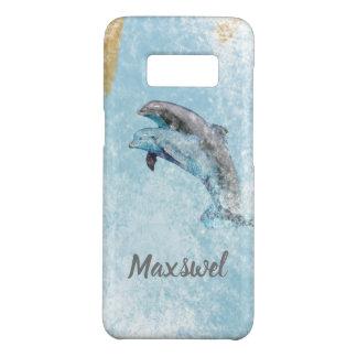 Coastal Theme Jumping Dolphins Art Case-Mate Samsung Galaxy S8 Case