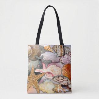Coastal Themed Shells and Shark Teeth | Tote Bag