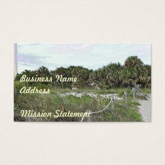 Coastal Trail Photo in Soft Plastic Business Card