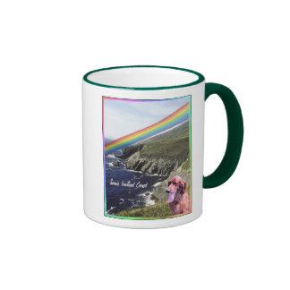 Coastal View Beautiful Scenic Ireland Ringer Coffee Mug