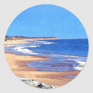 Coastal View, Norfolk, England Classic Round Sticker