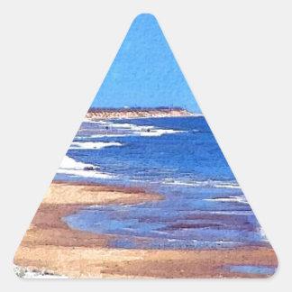 Coastal View, Norfolk, England Triangle Sticker