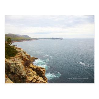 Coastal View of Acadia National Park Postcard
