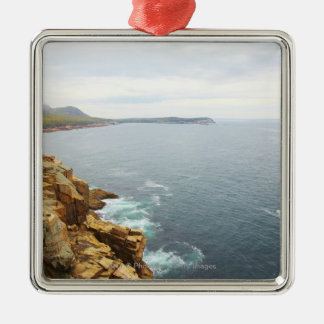 Coastal View of Acadia National Park Silver-Colored Square Decoration