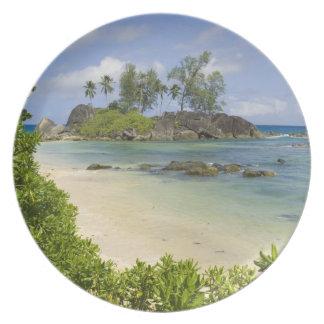 Coastal view on Mahe Island Party Plate