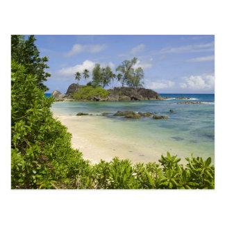 Coastal view on Mahe Island Postcard