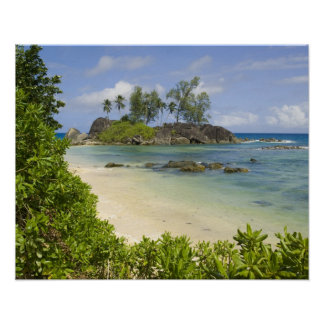 Coastal view on Mahe Island Poster