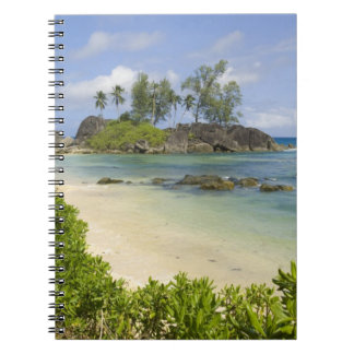 Coastal view on Mahe Island Spiral Note Book
