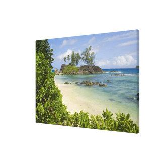 Coastal view on Mahe Island Stretched Canvas Prints