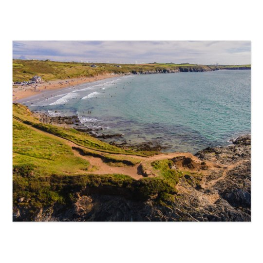 Coastal View Whitesands Bay Pembrokeshire Wales Postcard
