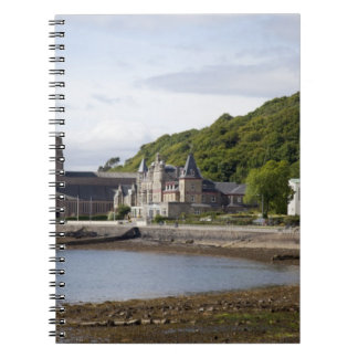 Coastal view with historic buildings, Oban, Notebook