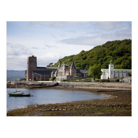 Coastal view with historic buildings, Oban, Postcard