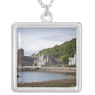 Coastal view with historic buildings, Oban, Silver Plated Necklace