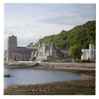 Coastal view with historic buildings, Oban, Tile