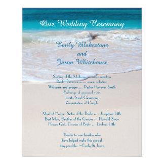 Coastal Vows Affordable Wedding Program 11.5 Cm X 14 Cm Flyer
