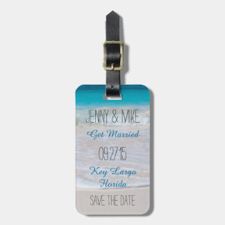 Coastal Vows Destination Wedding Save the Date Luggage Tag