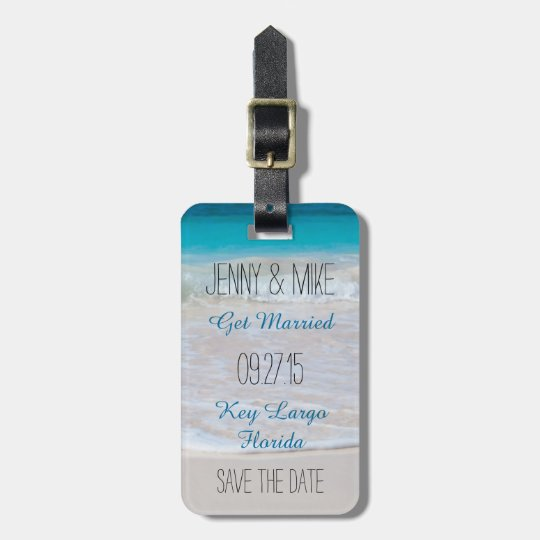 Coastal Vows Destination Wedding Save the Date Luggage